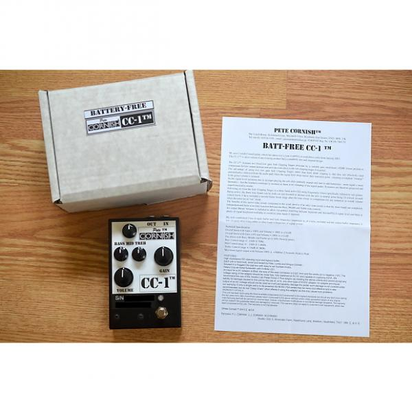 Custom Pete Cornish CC-1 Crunch Overdrive w/ Box & Swag Black / White #1 image