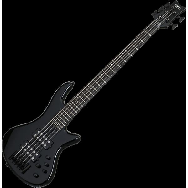 Custom Schecter Stiletto Stage-5 Electric Bass Gloss Black #1 image