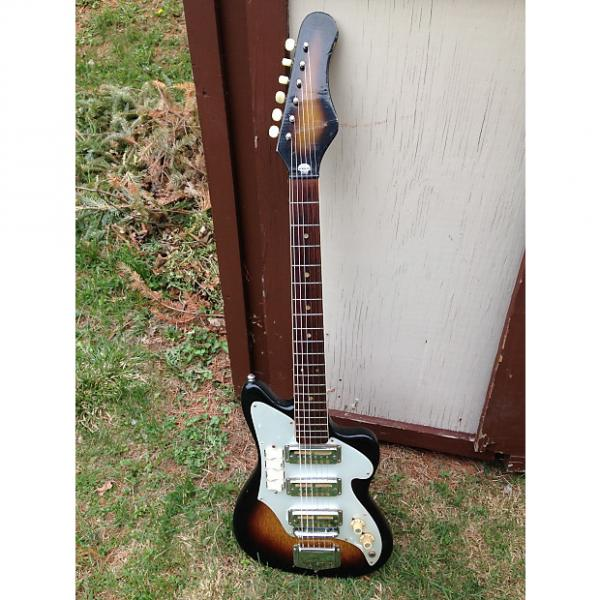 Custom Vintage Audition Zenon 3 PU 1960's Sunburst like Teisco MIJ Gold Foils #1 image