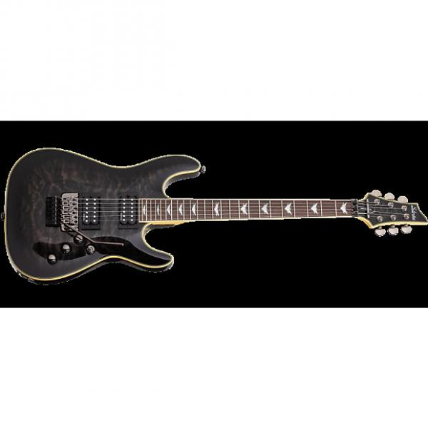 Custom Schecter Omen Extreme-6 FR Electric Guitar in See-Thru Black Finish #1 image