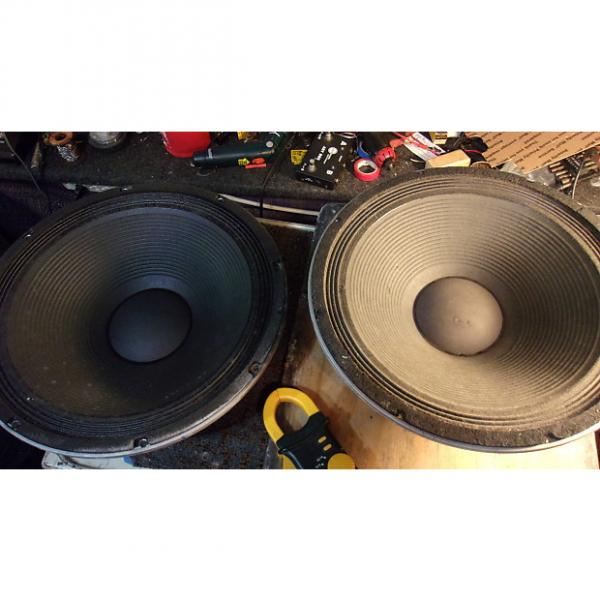 "Custom Peavey Black Widow 1502DT 15"" Speakers a Pair 4 Ohms 350 Watts For Bass/Pa Sub #1 image"