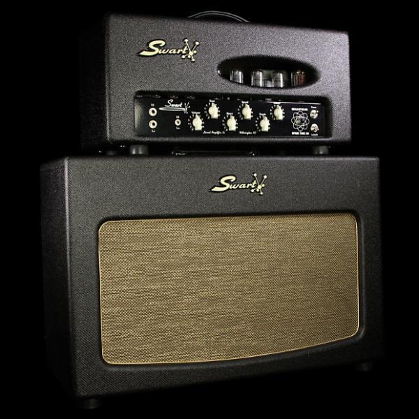 Custom Used Swart Super Space Tone 30 Head & 2x12 Cabinet Dark Tweed #1 image