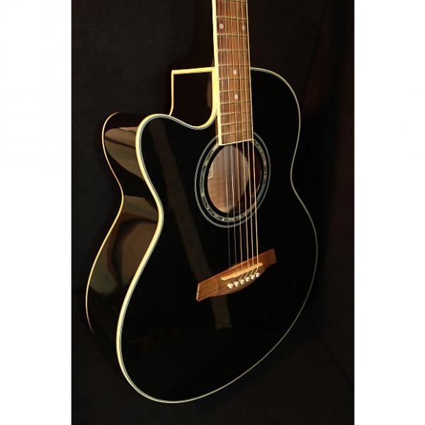 Custom Ibanez AEL10LE Acoustic Electric Left Handed Black #1 image