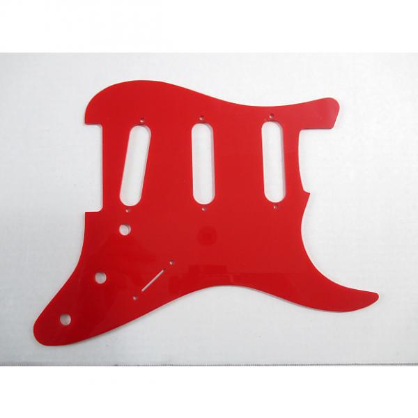 Custom ACME Stratocaster Pickguard and Pickup Holder Red #1 image
