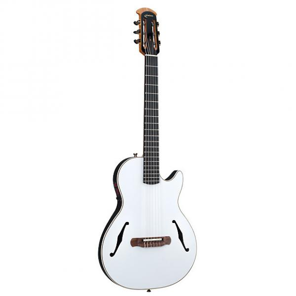 Custom Ovation YM63 Yngwie Malmsteen Viper Nylon-String White Acoustic-Electric Guitar #1 image