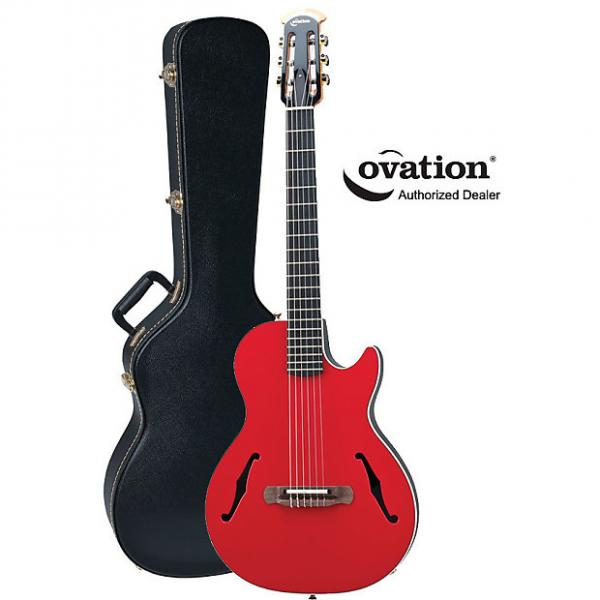 Custom Ovation YM63 Yngwie Malmsteen Viper Nylon-String Red Acoustic-Electric Guitar #1 image