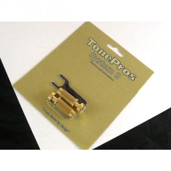 Custom Tone Pros System II SGS1 Locking US Tailpiece Studs Gold SGS1/GLD #1 image