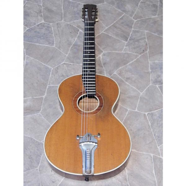 Custom gorgeous fine old all solid MEINEL & HEROLD birdseye PARLOR Jazz GUITAR Germany ~1930s #1 image