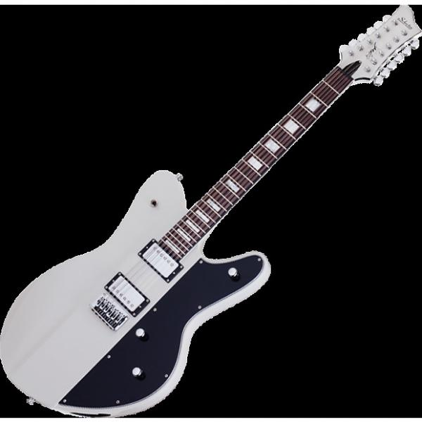 Custom Schecter Robert Smith Ultracure-XII Electric Guitar Vintage White #1 image