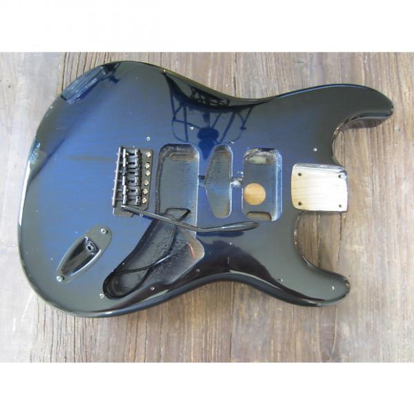 Custom MightMite Stratocaster Body | Trans Blue Burst, Includes Bridge & Jack Plate #1 image
