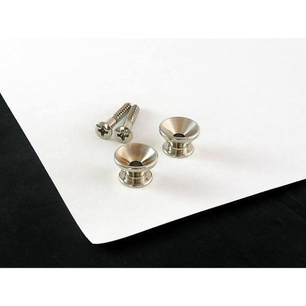 Custom Strap Button Nickel Set of 2 w/ screws for Fender AP 0670-001 #1 image