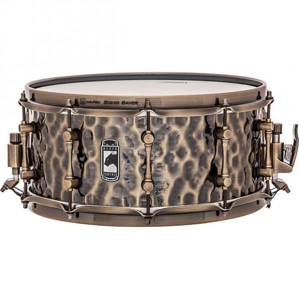 Custom Mapex Black Panther Series Sledgehammer Hammered Brass Snare Drum 6.5x14 #1 image