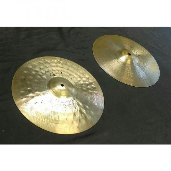 """Custom Paiste Signature Reflector Hi-Hat (pair). 14"""", with Heavy Top and Heavy Bottom! #1 image"""