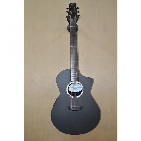 Custom Composite Acoustics OX ELE Black Carbon Fiber Raw #1 image
