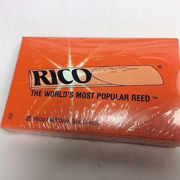 Custom #2 Rico Baritone Saxophone Reeds - Sealed Box of 25 - Original Style Packaging. #1 image