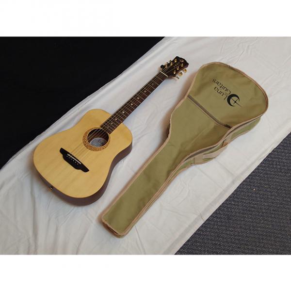 Custom LUNA Safari Supreme acoustic Travel 3/4 size GUITAR - SOLID SPRUCE TOP w/GIG BAG #1 image