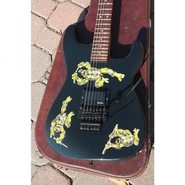 Custom 1988 Jackson USA Custom Shop Vintage Teenage Mutant Ninja Turtles TMNT Stratocaster Dinky Guitar #1 image