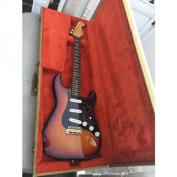Custom Fender Stevie Ray Vaughan Stratocaster Brazilian Rosewood Fretboard  1992 Three Tone Sunburst #1 image