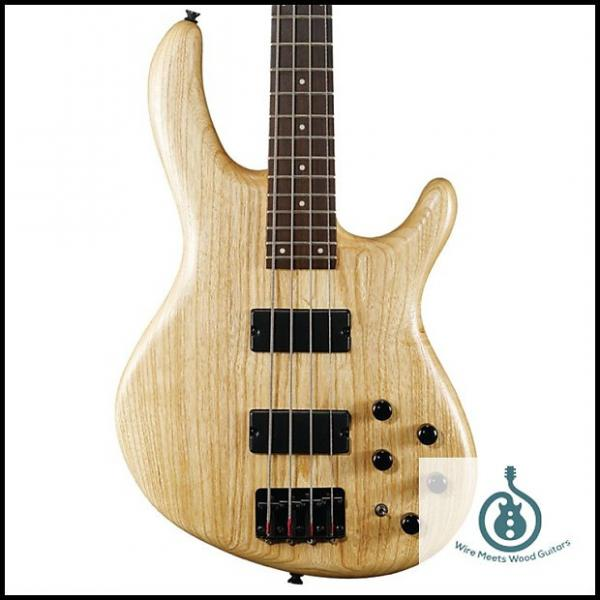 Custom Cort Action Series Deluxe 4-String Bass, Natural ACTIONDLXASOPN #1 image