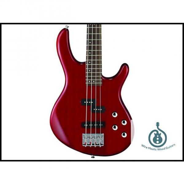 Custom Cort Action Bass Plus 4-String, PJ Pickup Set, 2-Band Eq, Lightweight, Trans Red, Free Shipping #1 image