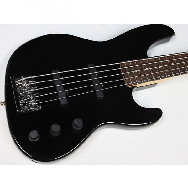 Custom 1992 Fender USA Jazz Plus V 5-String Bass w/OHSC, Black, Rosewood FB #40498 #1 image