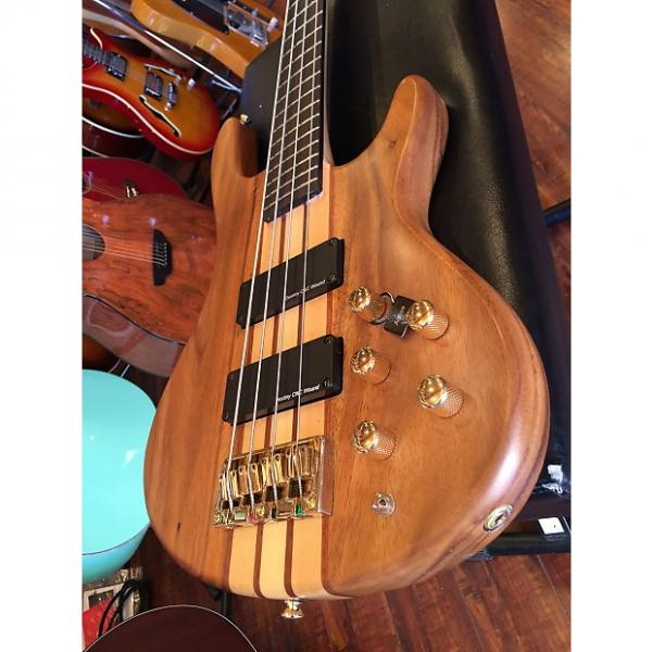Custom 2017 Wolf 4W Satin Walnlut 4 String Active/Passive Bass #1 image