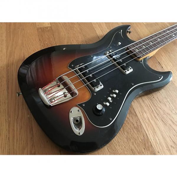 Custom 1967 Hagstrom H II B Electric Bass w/ Original HSC 3 Color Sunburst #1 image