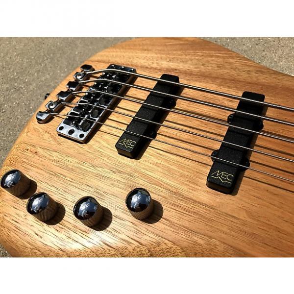 Custom 2009 Warwick Corvette 5-String RockBass Five Natural Satin Bass Guitar Active 2 band preamp #1 image