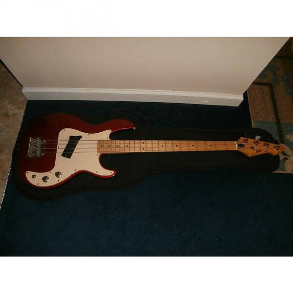 Custom Vintage 1980's Peavey T-20 Bass Guitar w/ Gig Bag! RARE Candy Apple Red, USA! #1 image