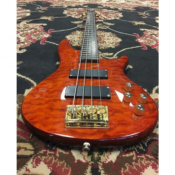 Custom Carlo Robelli 4-String Bass with a hard shell case #1 image