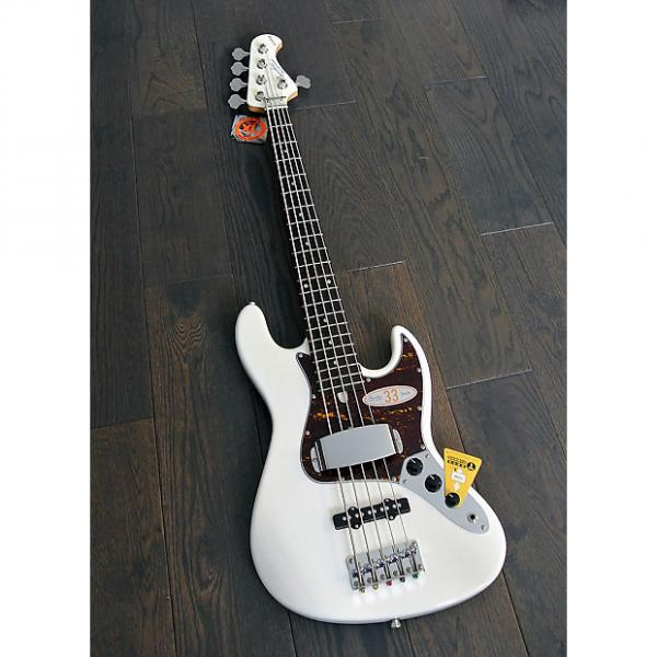 """Custom Bacchus Global Series - WL-533 - 33"""" Scale 5 String Bass in Snow White Finish - NEW #1 image"""
