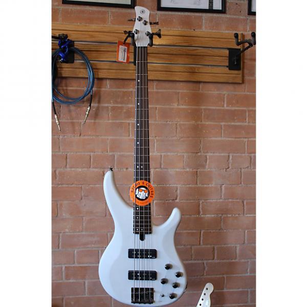Custom Yamaha TRBX504 4-String Bass Active/Passive 2016 Translucent White #1 image