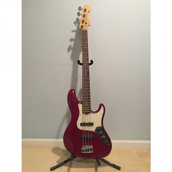 Custom Fender AM DELUXE J-BASS RW PRT W/C early-2000s Amber Red #1 image