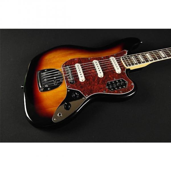 Custom Squier by Fender Vintage Modified Bass VI - 3-Tone Sunburst (557) #1 image