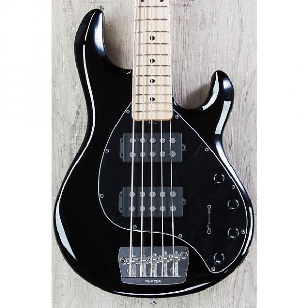 Custom Ernie Ball Music Man StingRay 5 HH Bass, Black, Maple Board, 5-String #1 image