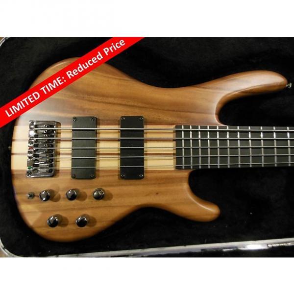 Custom REDUCED Raven West Guitars EliteWood Series RB5500 5-string bass guitar (with SKB case) #1 image