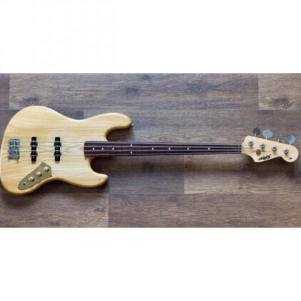 Custom Navigator ESP Fretless Jazz Bass 1980s Natural #1 image