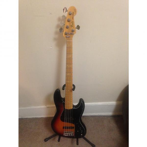 Custom Fender USA Marcus Miller Jazz Bass V w/ Aguilar noisless pickups 3 Color Sunburst #1 image