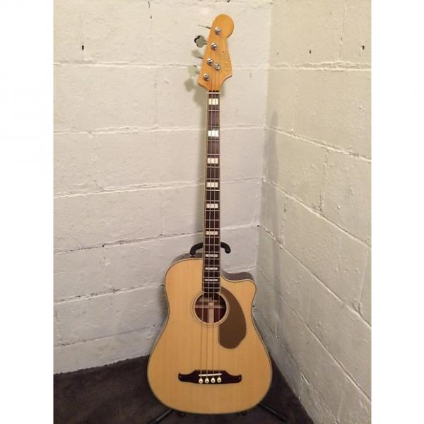 Custom Fender Kingman SCE Acoustic-Electric 4 String Bass Guitar Natural Fishman Preamp with hard case #1 image