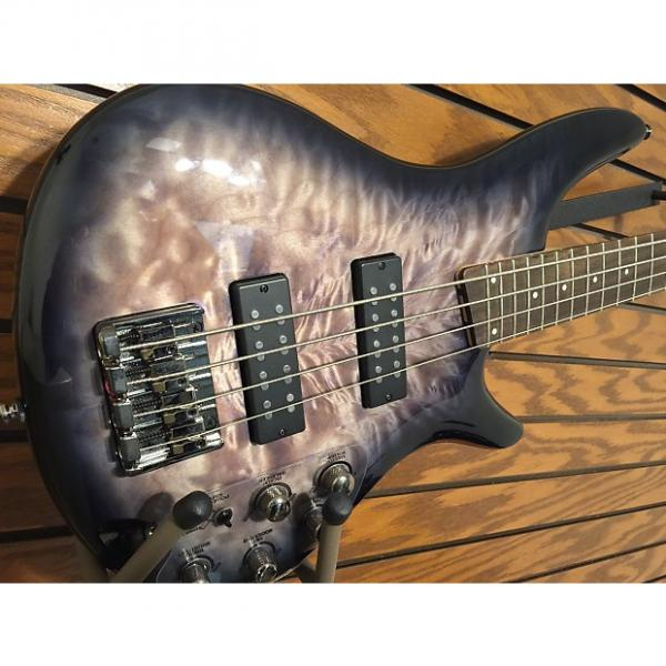 Custom Ibanez SR400EQMFBB Electric Bass 2016 Faded Blue Burst #1 image