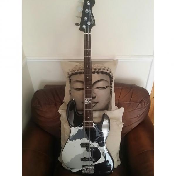 Custom Modified Squier Frank Bello Jazz Bass 2007 Black #1 image