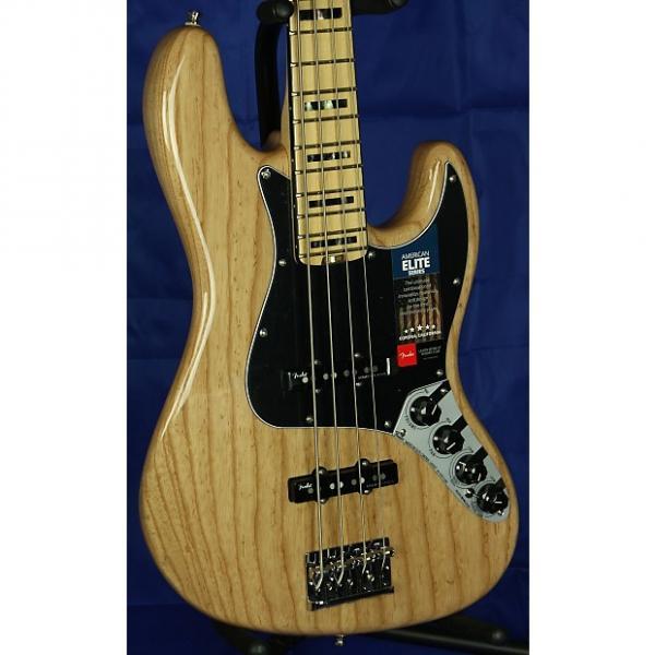 Custom Fender American Elite Jazz 4-String Electric Bass Ash w/ OHSC  2016 Natural #1 image