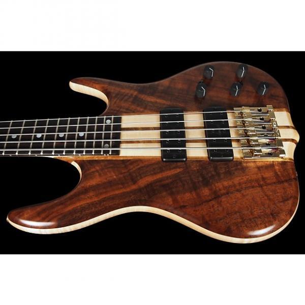 Custom 2017 Ken Smith 5TNV Black Tiger BT Vintage Body Style 5-String Bass w/ 18v Preamp ~ Figured Walnut #1 image