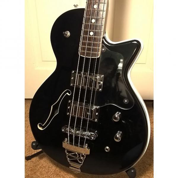 Custom DiPinto Belvedere Semi-Hollowbody Bass -- Korean; Black/White Finish; Exc. Cond.; w/ DiPinto Gig Bag #1 image