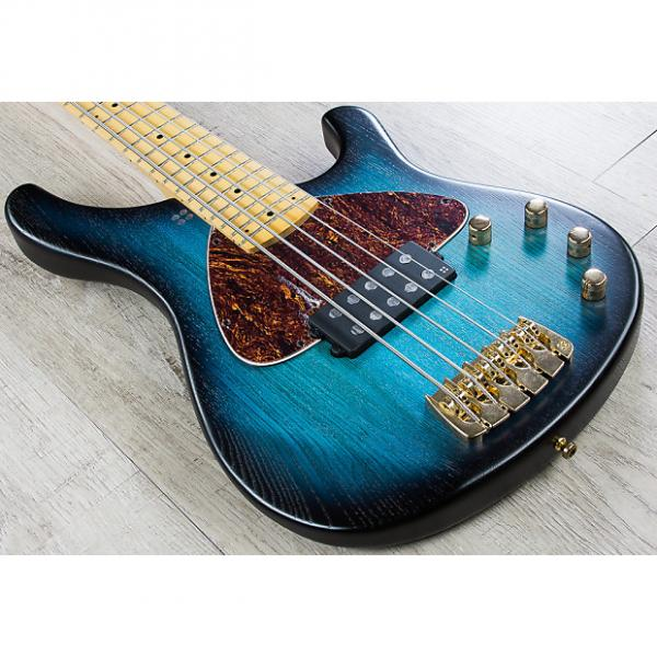 Custom Sandberg Basic 5 5-String Bass, Tinted Maple Fretboard, Gig Bag - Blueburst Matte #1 image