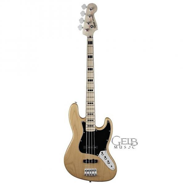 Custom Squier Vintage Modified Jazz Bass Maple Fingerboard in Natural - 0306702521 #1 image