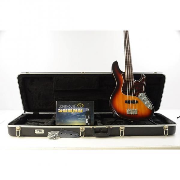 Custom 1997 Fender American Fretless Jazz Bass - Sunburst w/ Case - Active Electronics #1 image