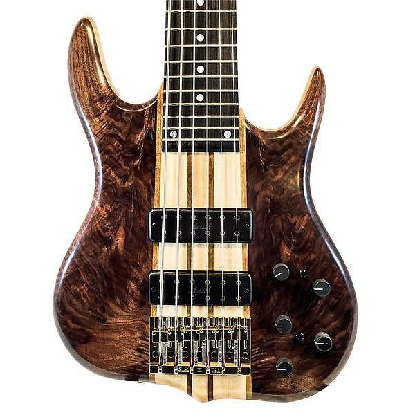 Custom Ken Smith BT6 Vintage Black Tiger 6-String Electric Bass #1 image