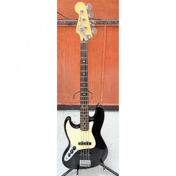Custom Fender Jazz Bass 4 String Bass Guitar 2003-2004 Black LEFT HANDED #1 image