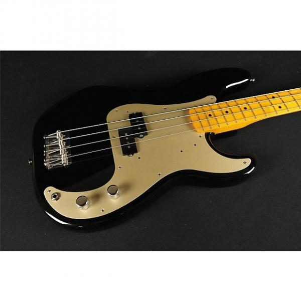Custom Fender Classic Series '50s Precision Bass Lacquer Maple Fingerboard Black (112) #1 image